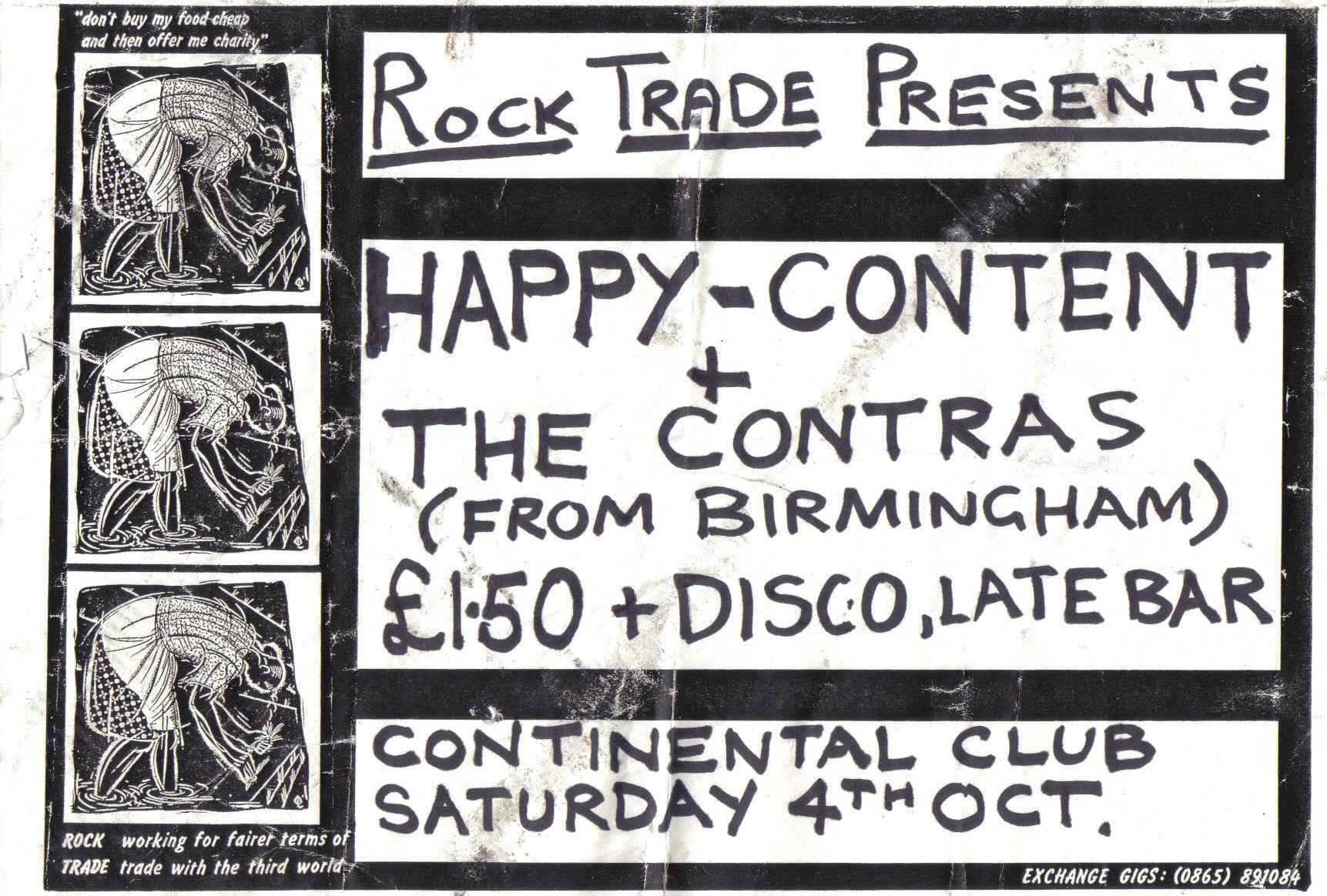 4th Oct 1986 Poster