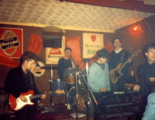 "A rare live photo, most likely the Continental Club 1986, ""Captain"" possibly HC's greatest fan dancing foreground right"